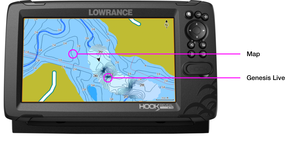 Lowrance Genesis Live Real-Time Mapping