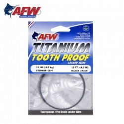 AFW Titanium Tooth Proof, Single Strand Leader Wire - метален повод