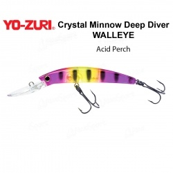 Воблер Yo Zuri Crystal Minnow Deep Diver WALLEYE 110F R1206-APC