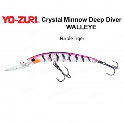 Воблер Yo Zuri Crystal Minnow Deep Diver WALLEYE 110F R1206-PT
