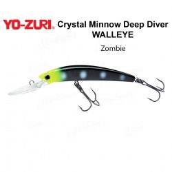 Воблер Yo Zuri Crystal Minnow Deep Diver WALLEYE 110F R1206-ZB