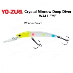 Воблер Yo Zuri Crystal Minnow Deep Diver WALLEYE 90F R1205-WB