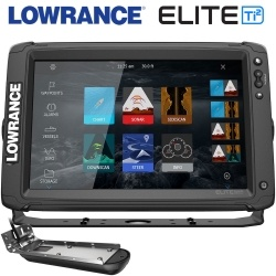 Lowrance Elite-12 Ti2 with 3-in-1 transducer Control panel