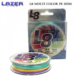 Lazer PE Braid L8 Multicolor 150m | Плетено влакно #1.2