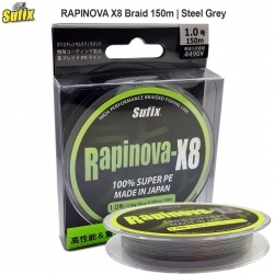 Sufix RAPINOVA X8 Steel Grey | Braid 150m
