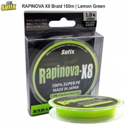 Sufix RAPINOVA X8 Lemon Green | Braid 150m