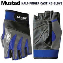 Mustad Half Finger Casting Gloves GL004 | Ръкавици