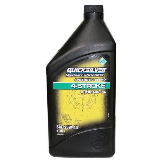 Картерно масло синтетично Quicksilver SAE 25W-40 (за 4-тактов извънбордов мотор)
