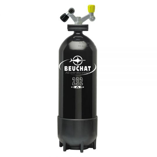 single air tank Beuchat 15 l with 2 outlet valves