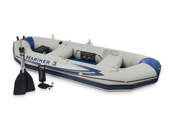 Надуваема лодка с твърдо дъно Intex Mariner 3