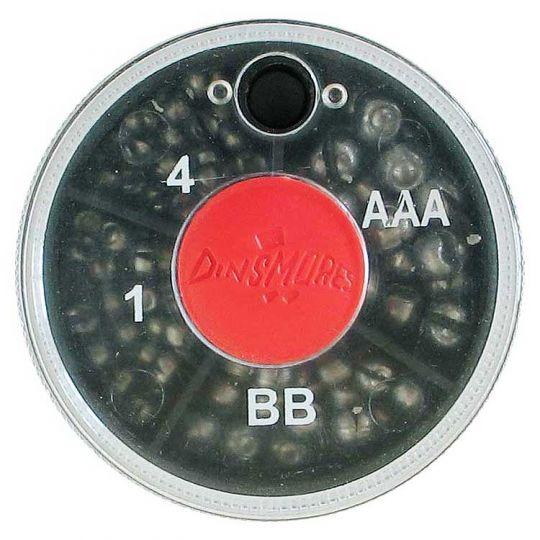 Риболовни тежести за плувка -цепени сачми Dinsmores (средна кутия, 4 деления)