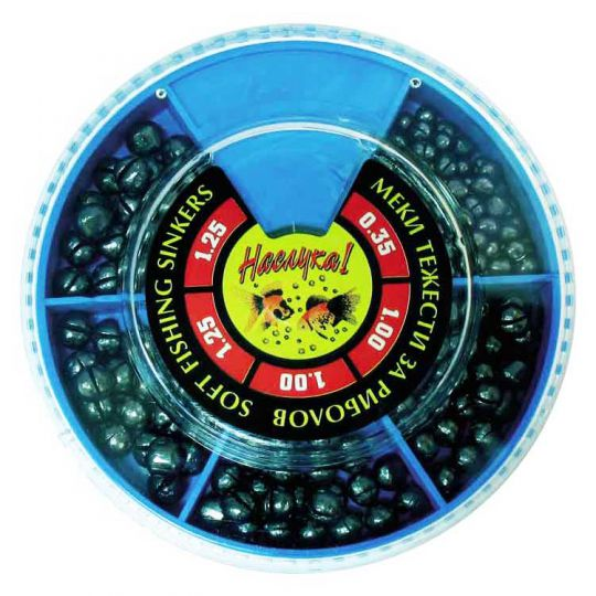 Fishing Split Shots Blue Box