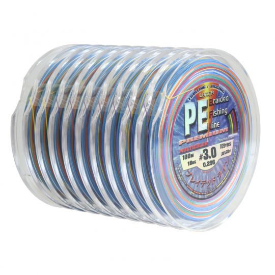 Плетено влакно Lazer PE Braid Multicolor 10x100м