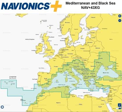 навигационна карта Navionics+