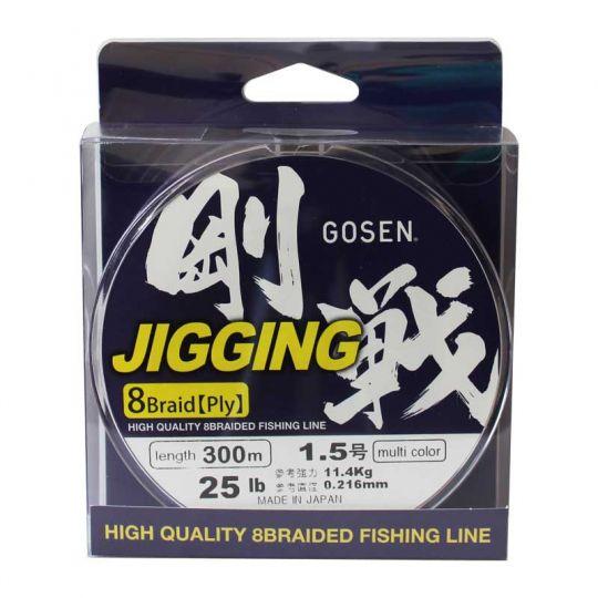 плетено влакно Gosen W8 Jigging Multi 300м
