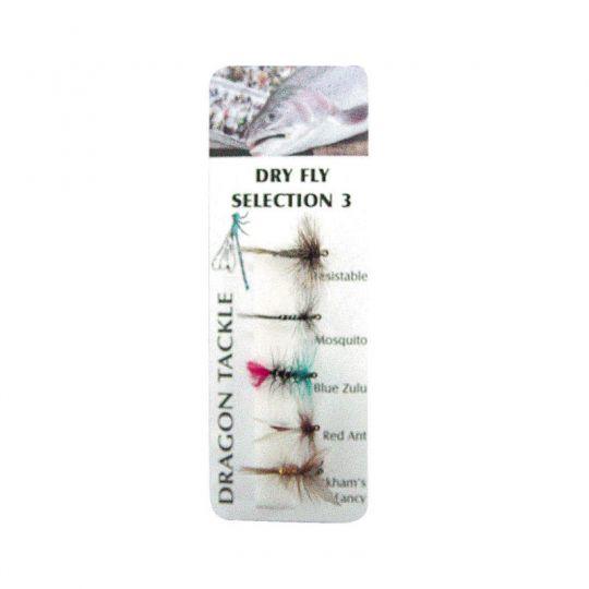 комплект мухи Dry Fly 3