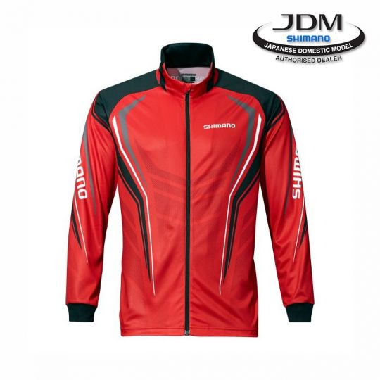 фланела Shimano Full Zip Print Shirt Red