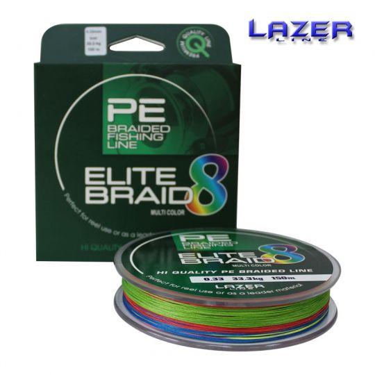 Плетено влакно 8-нишково Lazer Elite PE Braid Multicolour