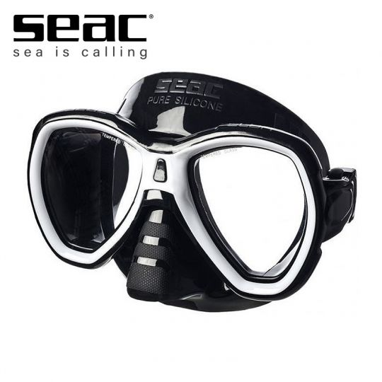 Силиконова маска Seac Elba Black (черна рамка)