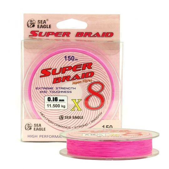 Sea Eagle Super Braid X8 Розово 150m