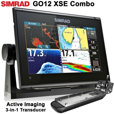 SIMRAD GO12 XSE + Active Imaging 3-in-1 Transducer