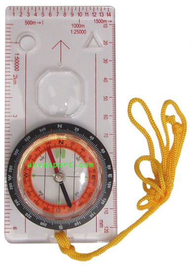 compass  with lens, 12.8 x 6 cm
