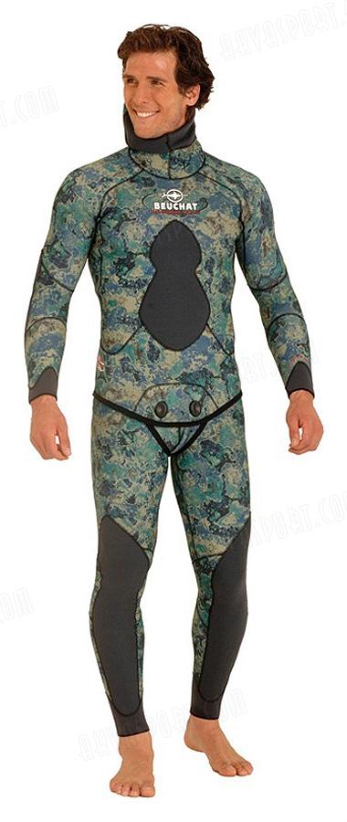Beuchat Mundial Camo Green 5 7mm Neoprene Wetsuit