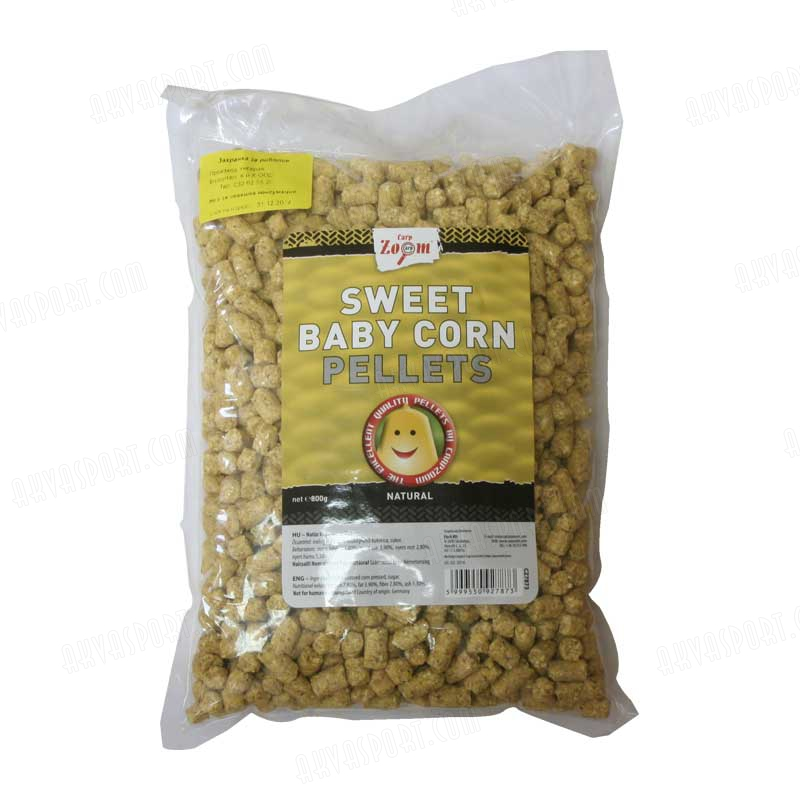 Carp zoom sweet baby corn pellets natural for Baby carp for sale