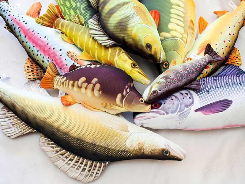 zander fish pillow
