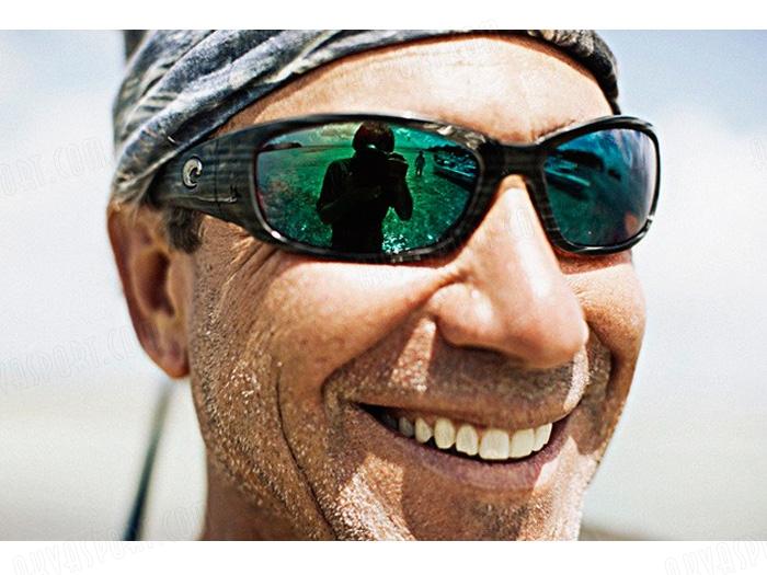 dc42d9283b9 Sunglasses Costa Hammerhead - Shiny Black - Blue Mirror 580P ...