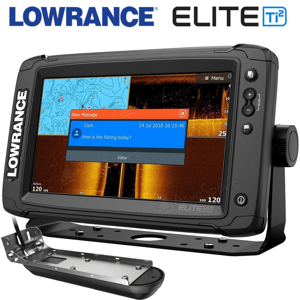 Lowrance Elite-9 Ti2 with 3-in-1 transducer CHIRP   SideScan   DownScan