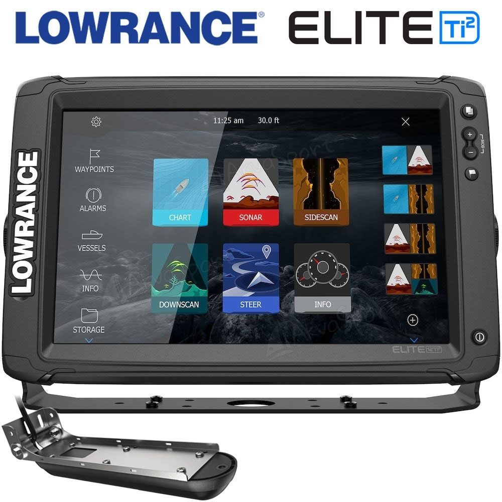 Lowrance Elite-12 Ti2 with 3-in-1 transducer CHIRP | SideScan | DownScan