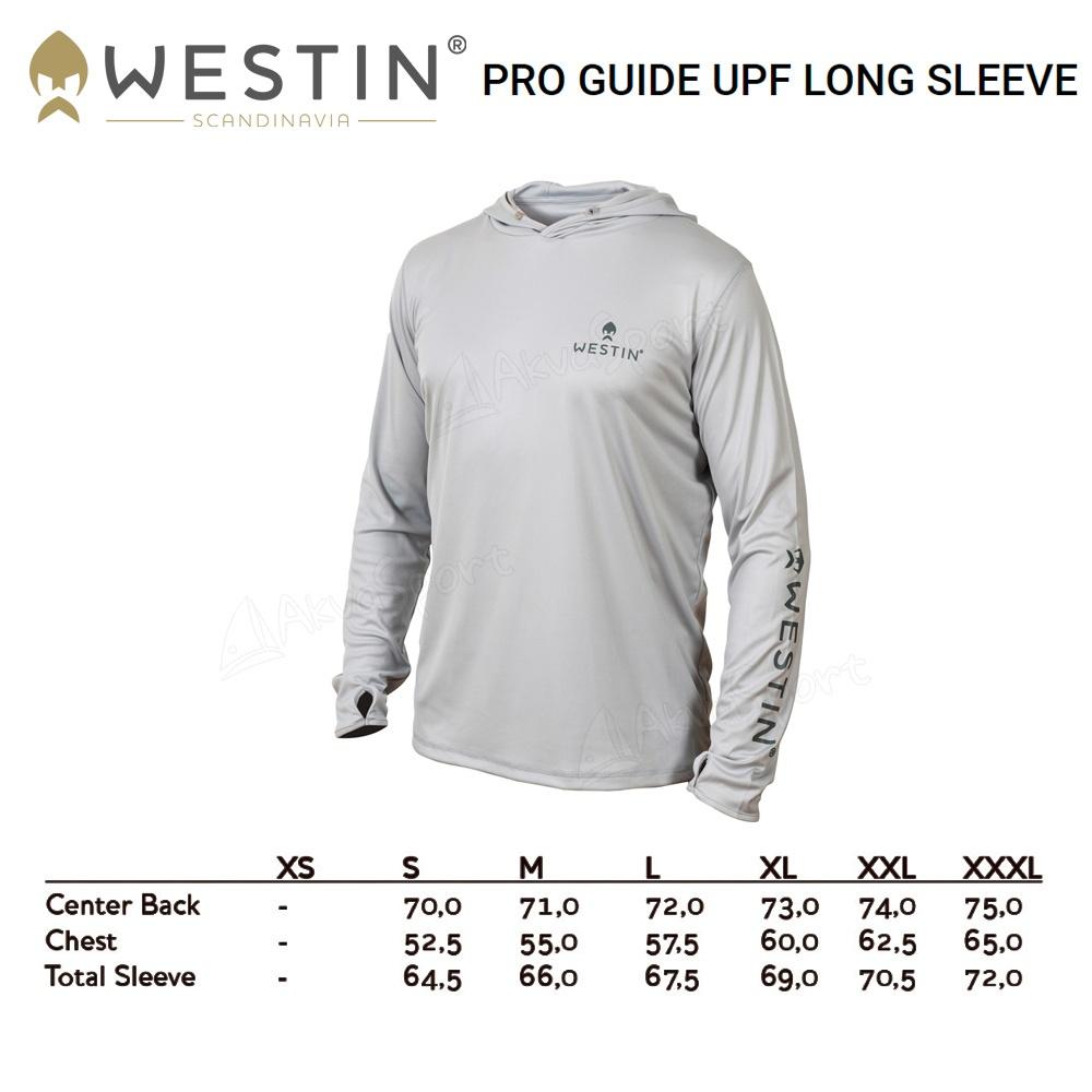 Angelkleidung Langarm Angelshirt Westin Pro UPF Long Sleeve Grey//Navy Blue