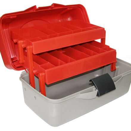 tackle box H-0417 with 2 shelves