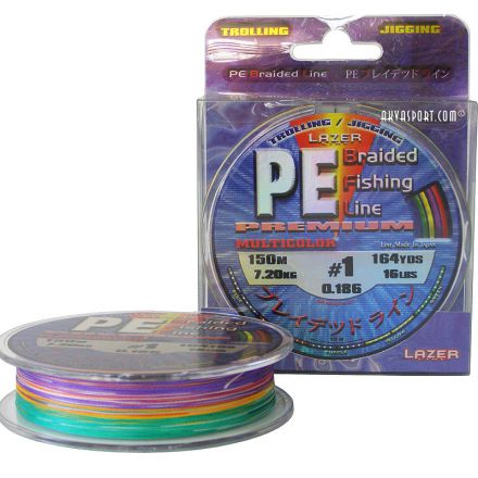 Плетено влакно Lazer PE Braid Multicolor 150m
