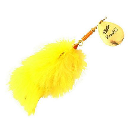 Mepps Giant Marabou Gold Chartreuse