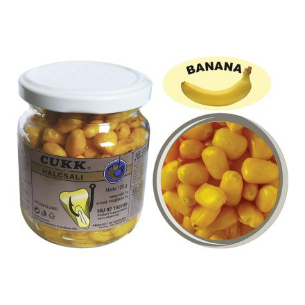 Cukk Banana fishing maize in bottles