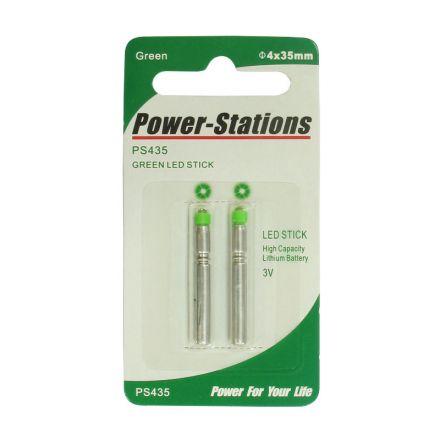 Светещи ампули LED 35мм, зелени