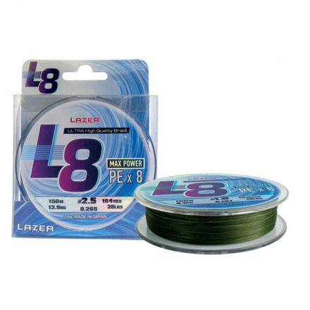 Lazer PE Braid L8 Green 150m