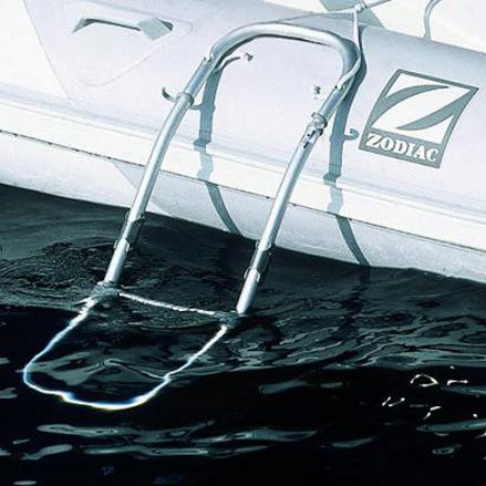Boarding ladder for inflatable boat