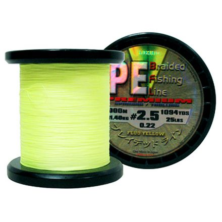 Lazer PE Braid Yellow braided line 1000m