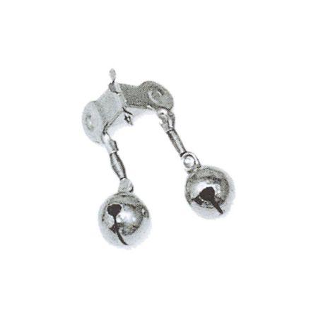 Звънче с щипка - късо, метално, двойно
