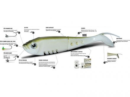 Силиконова рибка Delalande Buster Shad - 127