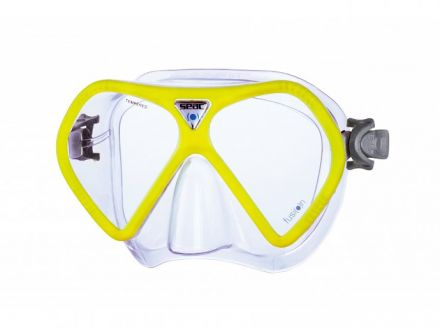 Seac Sub Fusion Mask | Yellow frame transparent silicone