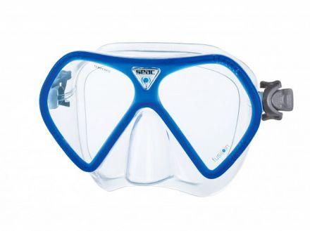 силиконова маска Seac Sub Fusion (прозрачен силикон със синьо)