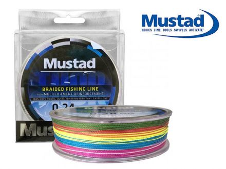 Плетено влакно Mustad Thor ML017 Multicolor 250m