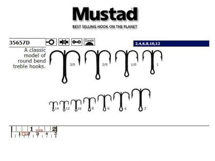 Тройки Mustad 35657 D