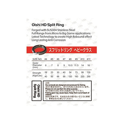oishi HD Split Rings