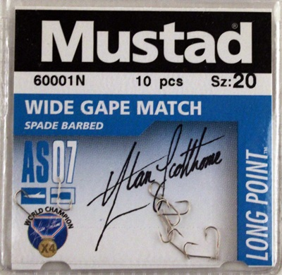 Куки Mustad 60001N Wide Gape Match