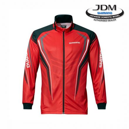 Фланела Shimano Full Zip Print Shirt Red